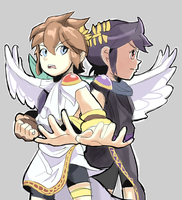 Kid Icarus Uprising: Pit and Dark Pit by AlSanya