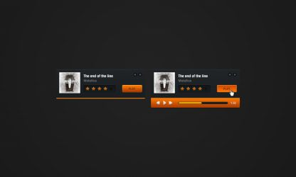 Simple mp3 player UI by Shegystudio