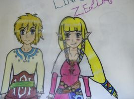 SS Zelda and Link by SheikahLover