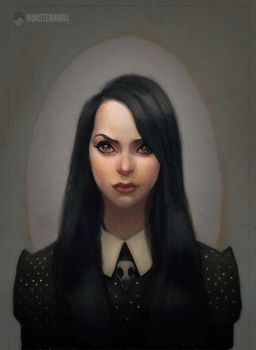 Wednesday Addams Yearbook Picture by juhoham