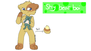 shy bear boi {auction} (closed) by skyfeather0066