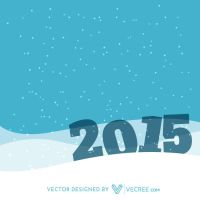 2015 In Snow Free Vector by vecree