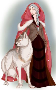 Woodwife: The Lady and theWolf- (Nefermeritaset) by xaotl