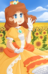 The flower Power Princess, Daisy! by Decapitated-Kittens