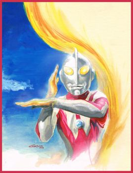 Ultraman Original Painting By Savy Lim Noedit by SlimJive