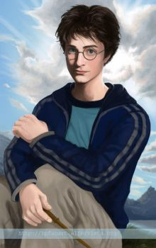 Harry realistic and sky by mary-dreams