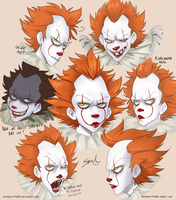 Pennywise sketches by AnimeStrife009