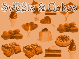 Sweets and Cakes Brushes by Natsume-Shin