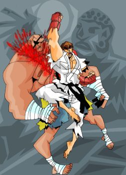 Ryu defeats Sagat by The-Satsui