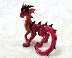 Red Standing Dragon by DragonsAndBeasties