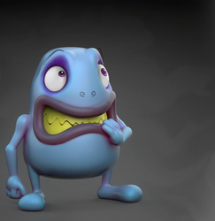 Zbrush Doodle Day 1015 - Scared Monster by UnexpectedToy