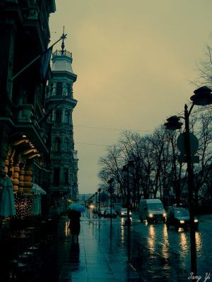 A rainy day in Helsinki by tang-yi