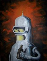 Bender from Futurama by Fruksion