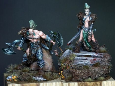 Barbarians painted by Scott Hockley by newboldworld