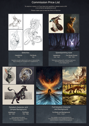 Commission Price List - CLOSED by Kanizo