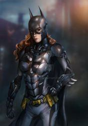 Batgirl wearing batsuit from Arkham Knight by Raines-Tu