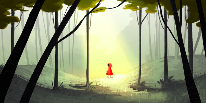 Little red riding hood by Tiuni