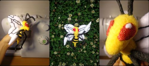 Beedrill Plushie by Sharsharkitty