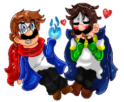 PC | The Skele-Mario Brothers! by Cookie-Luiginoid