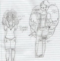 Tamika Flynn and Intern Vithya Sketches. by Scarlegs