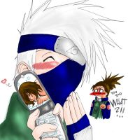 + Kakashi . Mobile Phone :D by Ruthea
