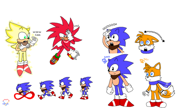 my classic Sonic desing and more by chulitoelluchito