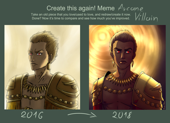 Before and after meme: 2016 vs 2018 by arcane-villain