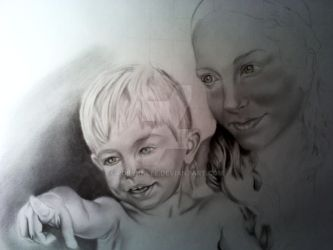 Mother and child WIP by RobynnLee