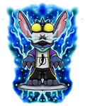 Lio and Stitch: Stich as Static Shock by dragonfire53511