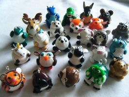 Animal Charms High Detail by ChibiSayuriEtsy