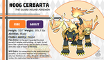 Pokemon Fate and Will Dex #006: Cerbarta by OzoneFruit