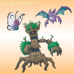 Pokemon Drawz Day 11: Butterfree Trevenant Crobat by OgawaBurukku