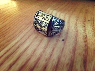 Medieval iconographic ring by Dewfooter