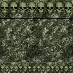 Green Stone Wall with Skulls 02 Remake by Hoover1979
