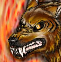 The Demon Wolf by TheTyro