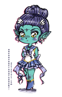 Chibi Sailor Skat by unconventionalsenshi