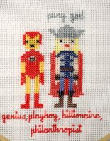 Iron Man and Thor by VickitoriaEmbroidery
