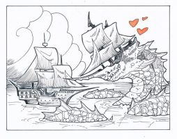 Inktober day 25: Ship by drachenmagier