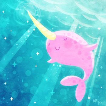 Magical Narwhal by nerdeeart