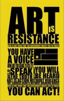 Art Is Resistance by fairytalehorror