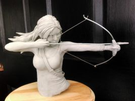 Tomb Raider Sculpture by Pencilsketches