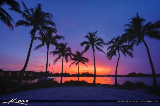 Jupiter-Inlet-Coconut-Trees-Sunset-at-Dubois by CaptainKimo