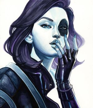 Classic Domino Portrait by WeijiC