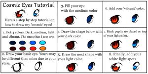 'Cosmic' Eye Tutorial by Queen-Of-Cute
