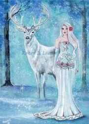 Nordic winter goddess by Fairylover17