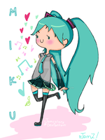 Hatsune Miku by JAMcolors