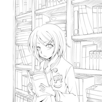 In The Library by K-K-tofus