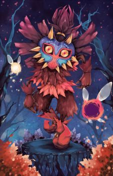 Legend of Zelda - Skull Kid by Hodremlin