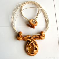 Wooden jewelry - Necklace 1468 by AmberSculpture