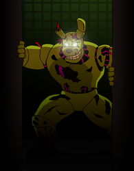 Here's Springtrap by RetroUniverseArt